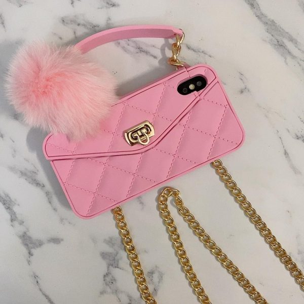 Crossbody Wallet Handbag phone case For iPhone 11 12mini Pro XS MAX XR X 6s 8 7 Plus Card Slot Purse cover with Long strap Chain